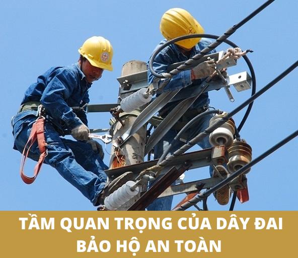 Tầm quan trọng của dây đai an toàn bảo hộ