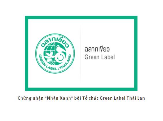 """Chứng nhận """"Nhãn Xanh"""" bởi Tổ chức Green Label Thái Lan cho sản phẩm an toàn"""