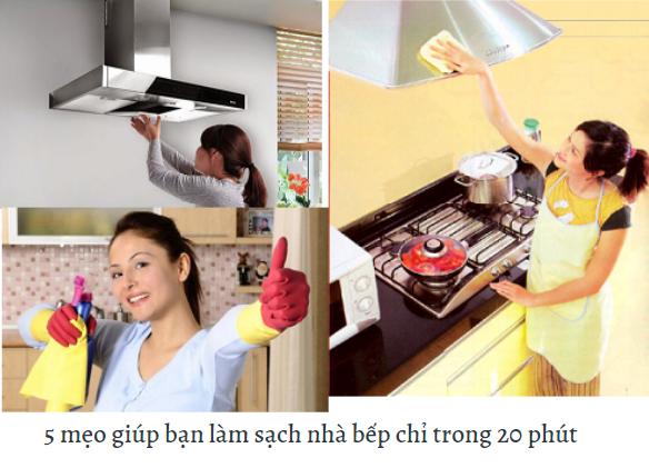 5 mẹo giúp bạn làm sạch nhà bếp chỉ trong 20 phút