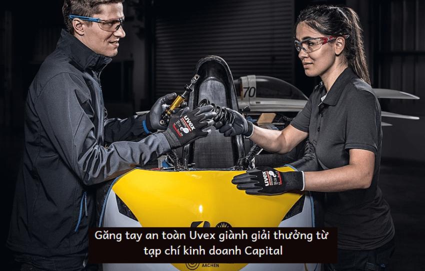 Găng tay an toàn Uvex giành giải thưởng từ tạp chí kinh doanh Capital