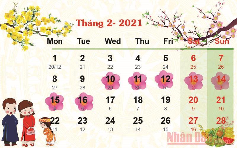 Công ty TNHH Vinh Thái thông báo lịch nghỉ Tết Nguyên Đán Tân Sửu 2021
